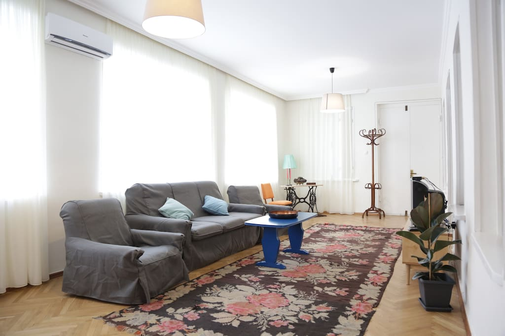 Comfortable living room with TV