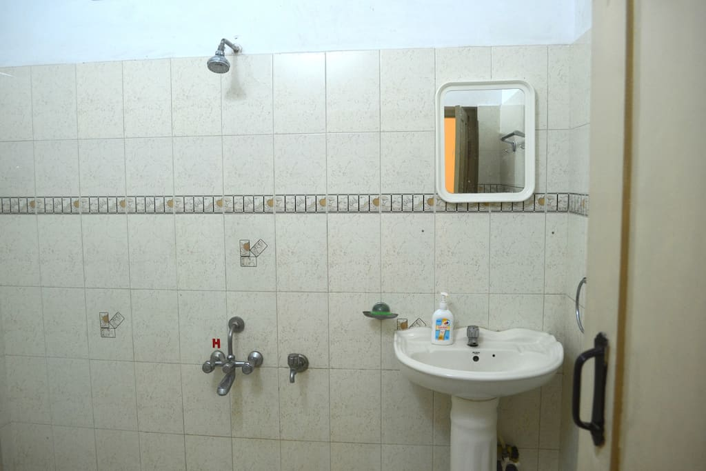 Attached Bathroom with Hot water