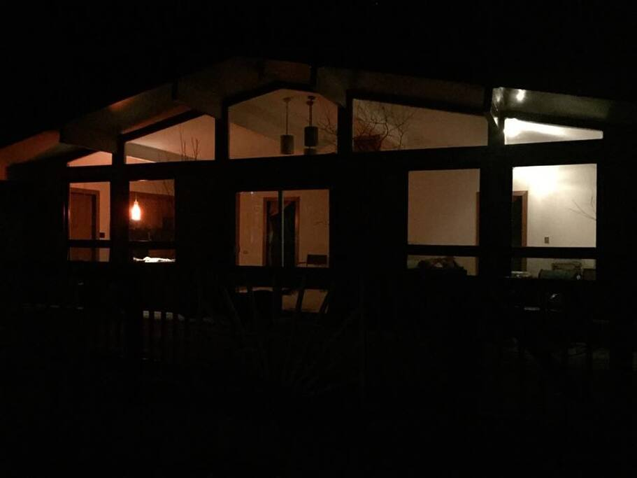 Heavenly nighttime by the fire...