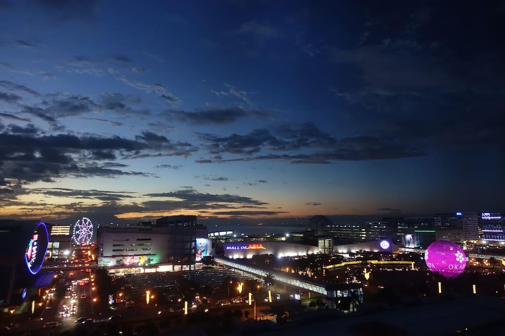 actual views ,  night coming