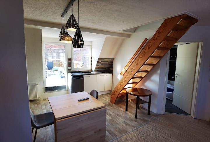 Gemütliche Wohnung mit Dampfsauna und Dachterrasse