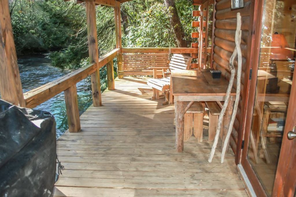 FRONT PORCH WITH FIGHTINGTOWN CREEK VIEW