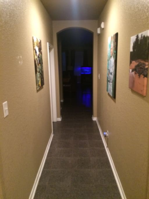 Hallway leading into the house