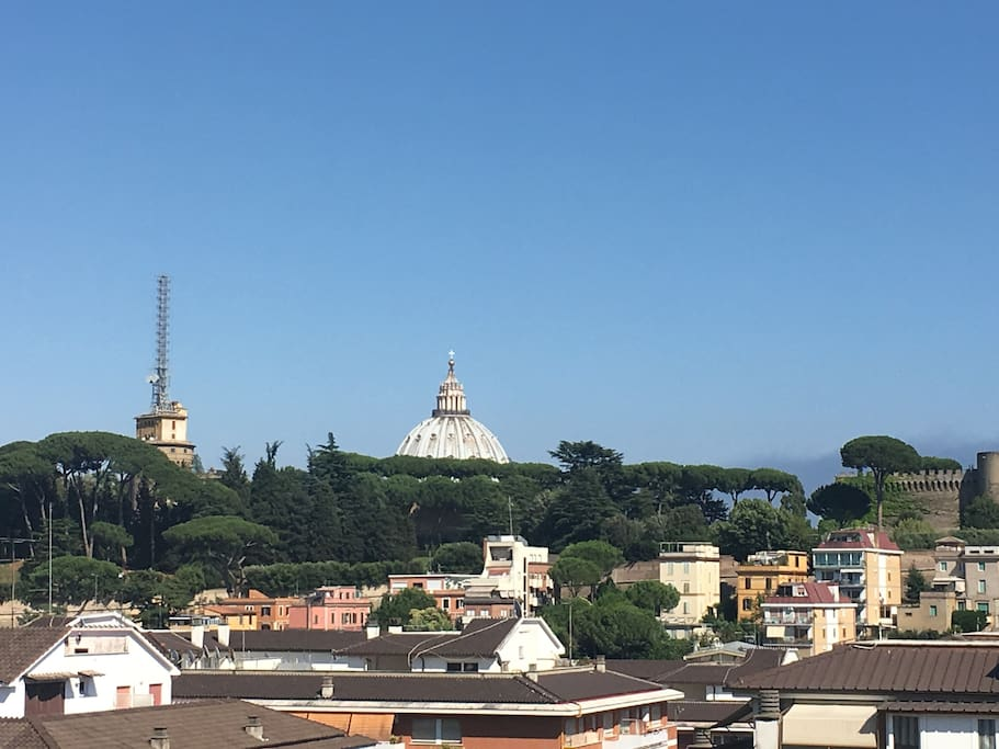 Window view from the 7th floor of St Peter's Basilica
