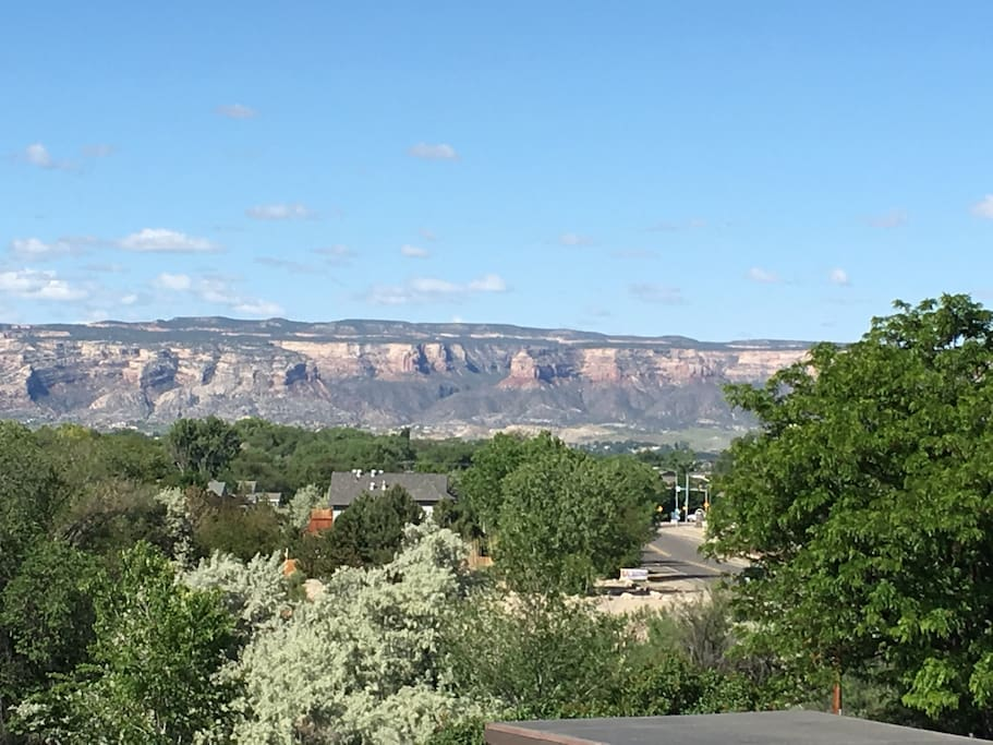Spectacular summer view of the Colorado National Monument from the condo balcony