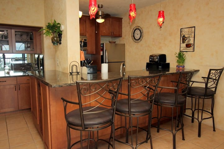 Nicely renovated fully equipped kitchen.