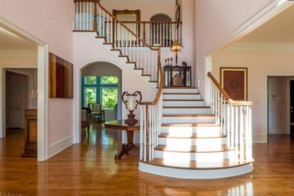FABULOUS FOYER, Double staircase, fireplaces,  & so much more...
