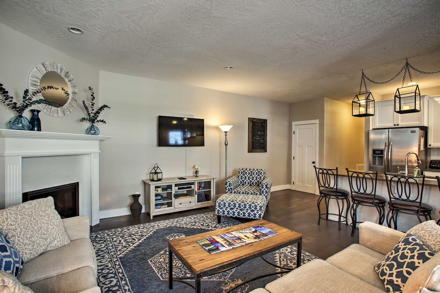 Have a relaxing getaway in this 4-bedroom, 2.5-bath vacation rental home for 10.