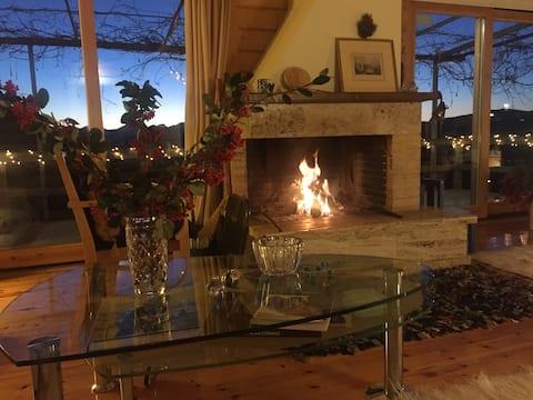 Luxury Chalet Villa on Mountain Top, Amazing Views