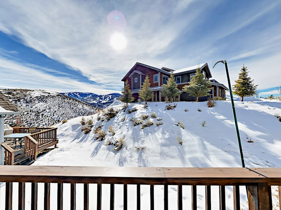 Enjoy expansive views from the large deck.