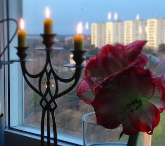 City apartment with view and 5 min to Metro. - Стокгольм - Квартира
