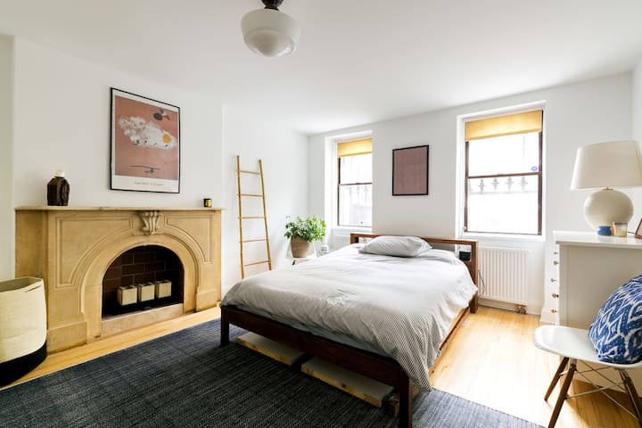 Central & Comfortable 1BR Brownstone Apartment