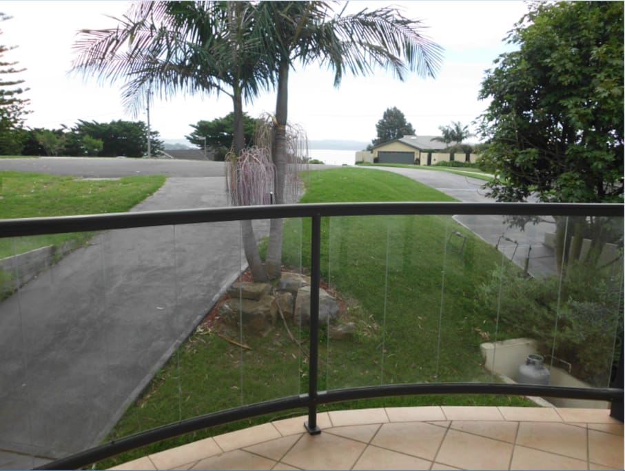 Front veranda view overlooking Coila Lake