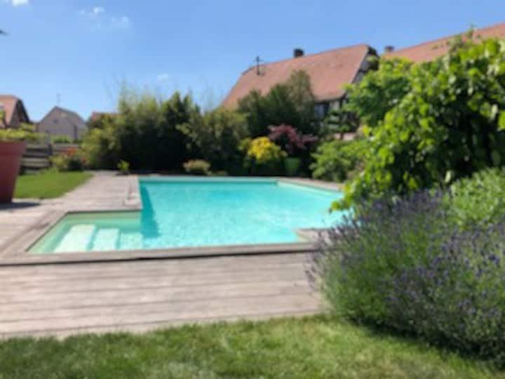 Beau duplex avec piscine, maison alsacienne 4-6 p.