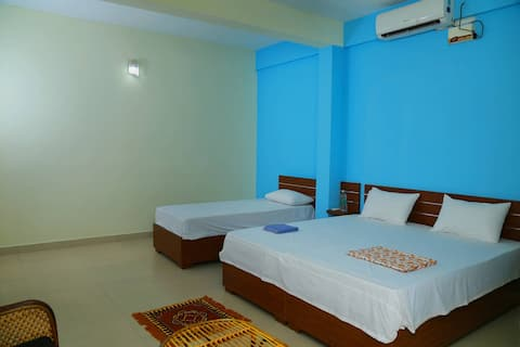 A/C Family room in a Backwater View Homestay..!