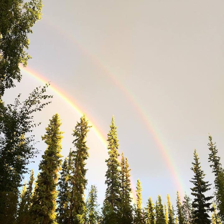 A beautiful double rainbow