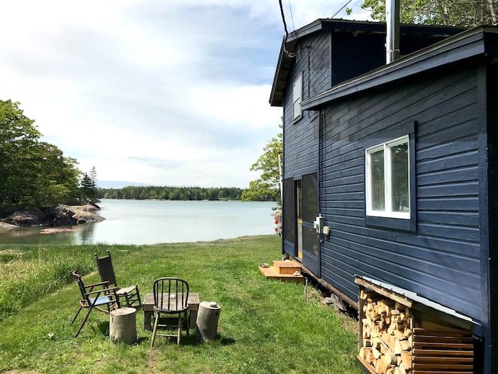 Oceanfront Deer Isle Cabin