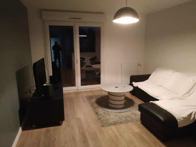 Appartement t2 calme avec jardin
