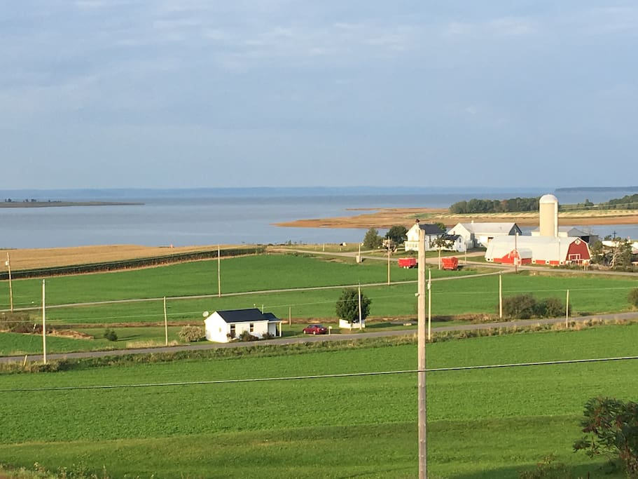 Famous spot of the expulsion of the Acadians ...as seen from our deck