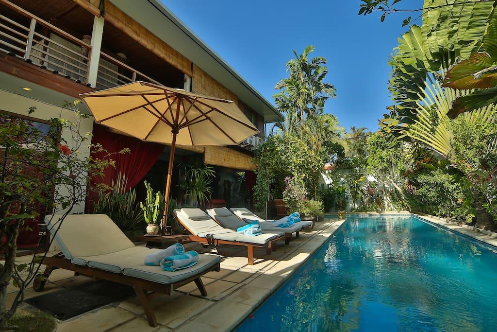 4 sun lounger to take sun bath