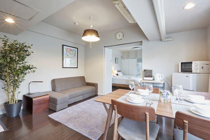 NEW&COZY ROPPONGI/AOYAMA for5(1min to the station) - Minato-ku - Apartment