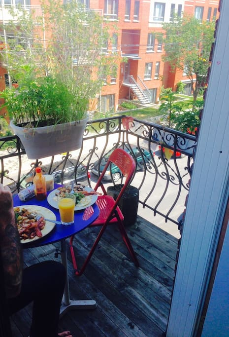 Enjoy your breakfast on your private balcony