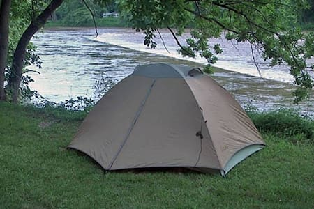 #16 River Front tent  site Camp Driftwood