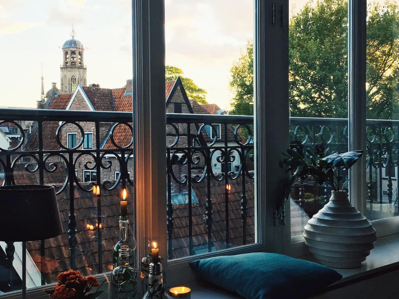 Het mooiste uitzicht van Deventer, de Lebuïnus kerk!