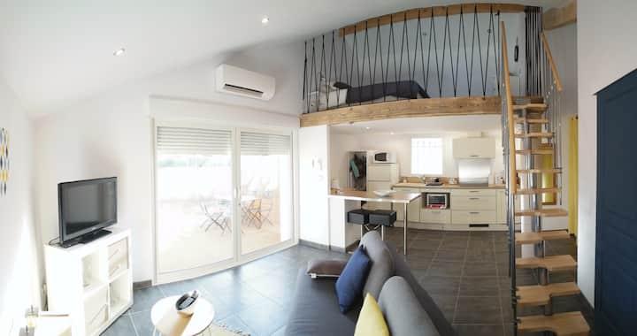 Agréable studio tout confort Mezzanine 45m2