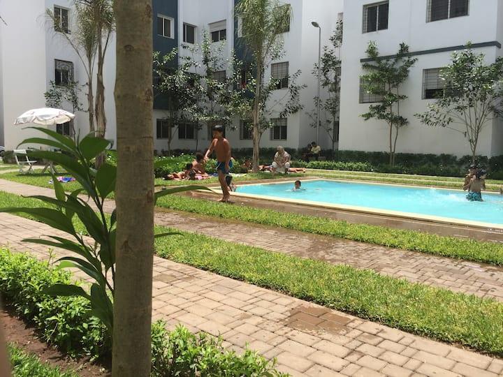 appartement avec piscine à 5 min de la mer !!