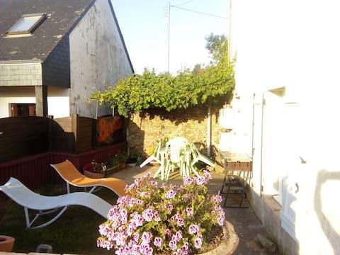 Appartement et jardin  privatif à Quimperlé