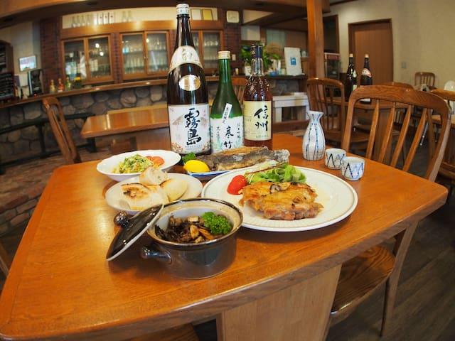 B&B at Bar & Dining, sora MESHI - Tateshina-machi - Bed & Breakfast