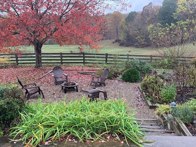 Garden and Fire Pit