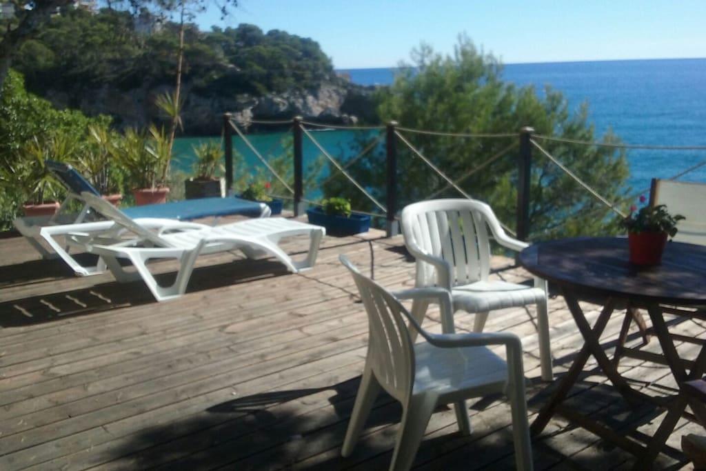 maison calme en face de la mer villas louer salou catalunya espagne. Black Bedroom Furniture Sets. Home Design Ideas
