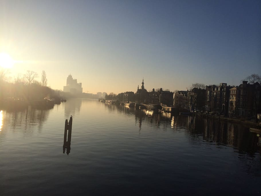 Amstel river 4 min walking distance from the house
