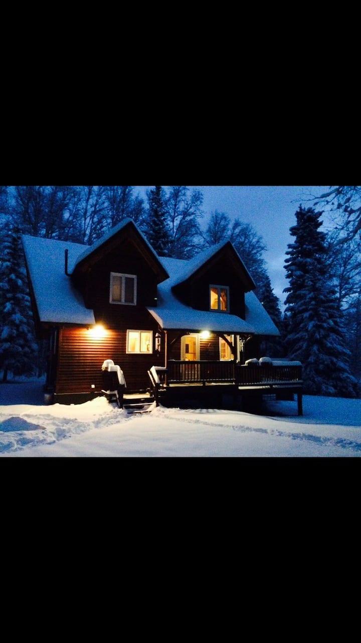 Shirley Lake Cabin in the heart of Alaska.