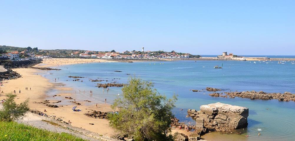 Maison Basque Vue sur Baie de Saint-Jean.50m plage - Ciboure - Huis