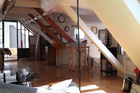 Charmant loft, vue sur le port et la ville close - 孔卡尔诺 (Concarneau) - 公寓