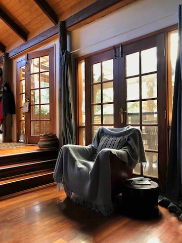 Hardwood floors are a beautiful feature of the entire Cottage