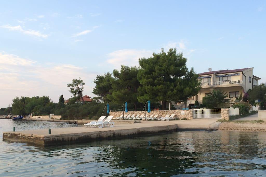 Villa Punta Royal private beach
