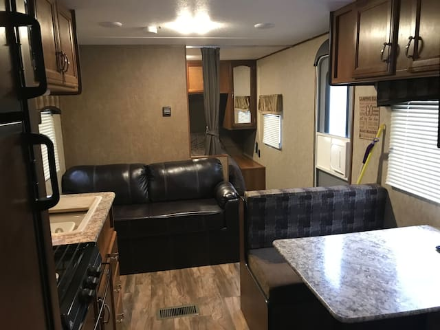 """Glamping it"" in a Private Brandon Camper"