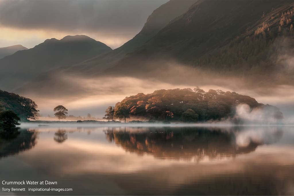 Looking towards the cottage from Crummock Water at dawn.