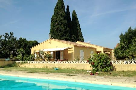 Villa  provençale climatisée piscine 10*5 m - Saint-Étienne-des-Sorts