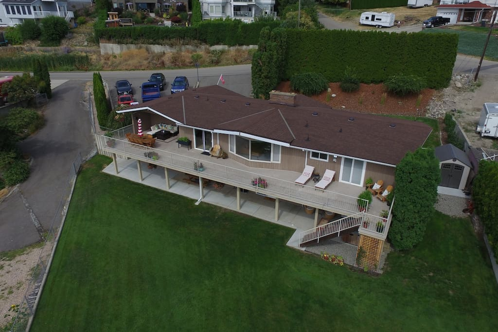 A aerial view of our property. Suite is located bottom right.