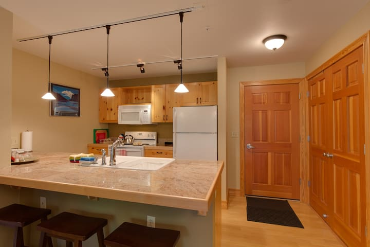 Looking at entry from kitchen