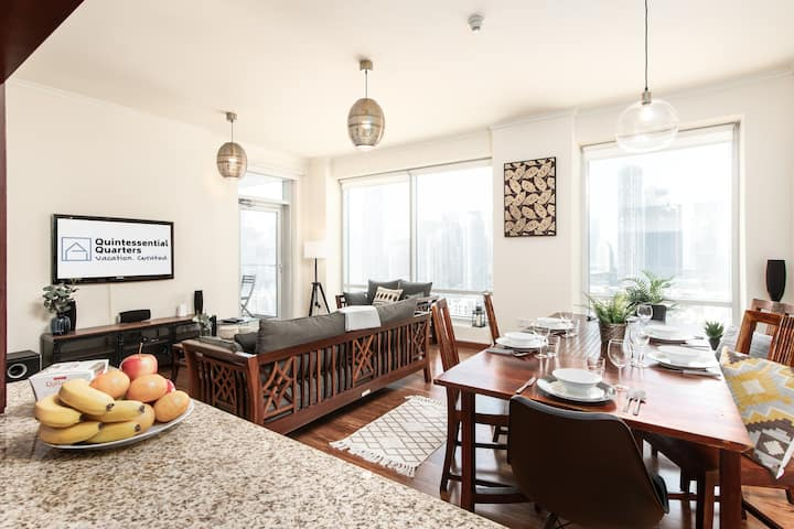 Stylish Interiors + Views in Heart of Downtown