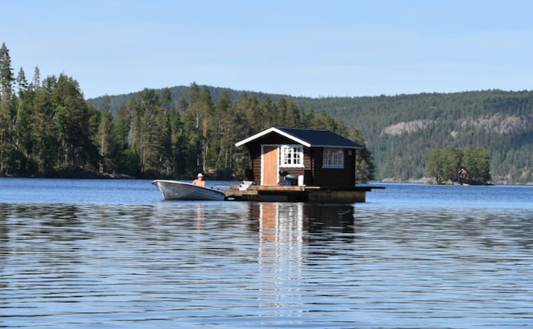 Explore Swedish Nature in our floating cottage #1