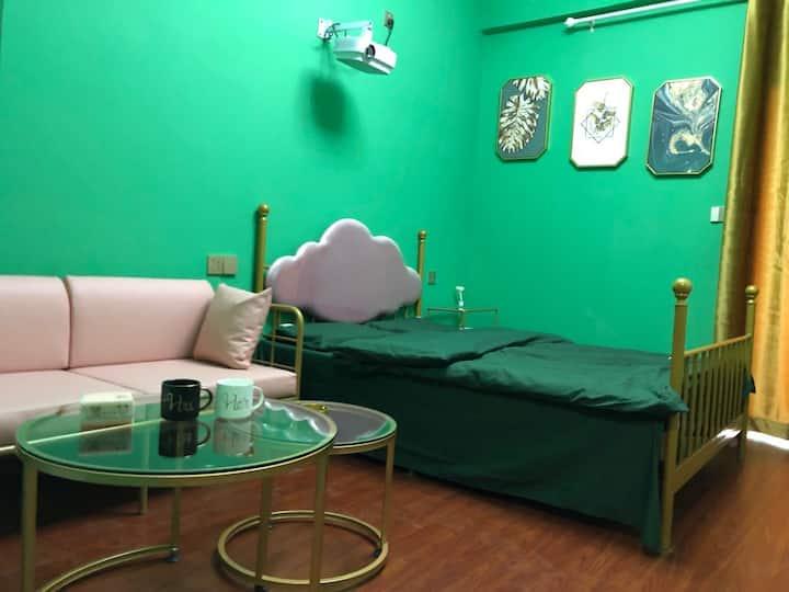 墨绿风 投影仪 乳胶床垫
