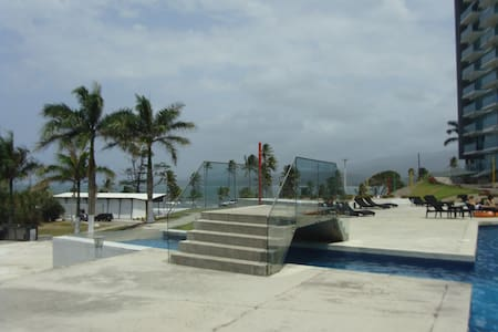 Beachfront apartment at Caribbean coast.BosqueMar