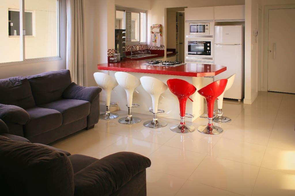 Sala de estar + Cozinha
